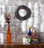 Multicolour MDF 11.5 Inch Round Luxury Decorative Handmade Wall Clock by ShriNath
