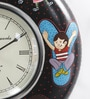 ShriNath Multicolour MDF 11.5 Inch Round  Handmade Handicraft Wall Clock