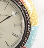ShriNath Multicolour MDF 11.5 Inch Round Coster Emboss Handicraft Wall Clock