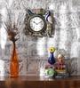 Multicolour MDF 12 Inch Round Mayur Room Handmade Handicraft Wall Clock by ShriNath