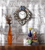 Multicolour MDF 12 Inch Round Peacock Mounted Wall Clock by ShriNath