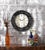 ShriNath Multicolour MDF 18 Inch Round Desert Camel Handicraft Wall Clock