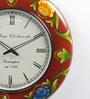 ShriNath Multicolour MDF 18 Inch Round Painted Handicraft Wall Clock