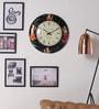 ShriNath Multicolour MDF 18 Inch Round Rajasthani Art Handmade Handicraft Wall Clock