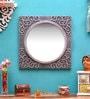 Shrinath Silver MDF Antique Decorative Mirror