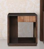 Sienna Solidwood Side Table in Wenge & Oak Colour