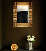 Brown Solid Wood Mirror