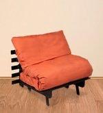 Single Futon Sofa cum Bed with Orange Mattress