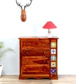 Siramika Chest of Drawers in Honey Oak Finish