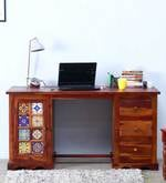 Siramika Study Table in Honey Oak finish