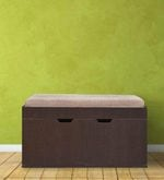 Two Door Shoerack with Cushion Seat in Wenge Finish