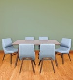 Six Seater Dining Set in Brown & Grey Colour