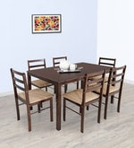 Six Seater Dining Set in Matte Wenge Finish