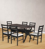Six Seater Dining Set in Wenge Finish