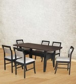 Six Seater Dining Set with Six Chairs in Wenge Finish