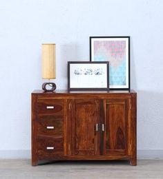 Oriel Two Door Three Drawer Sideboard In Honey Oak Finish