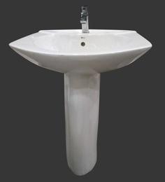 Sifon Studio White Ceramic Pedestal Wash Basin