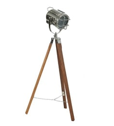 Silver Aluminum And Steel Tripod Floor Lamp - 1713859