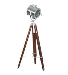 Silver Aluminum And Steel Tripod Floor Lamp - 1713852