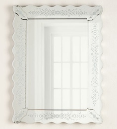 Silver Glass & MDF Petite Fleur Venetian Mirror