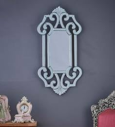 Silver Glass Orson Rectangular Wall Mirror