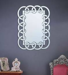 Silver Glass Turner Modern Wall Mirror