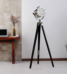 Silver Metal Floor Tripod Lamp - 1711232