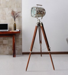Silver Metal Floor Tripod Lamp - 1711240