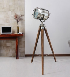 Silver Metal Floor Tripod Lamp - 1711236