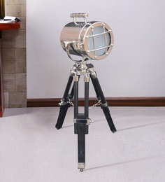 Silver Metal Table Tripod Lamp