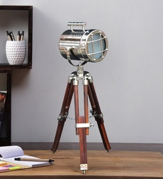 Silver Metal Table Tripod Lamp - 1711227