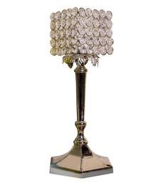 Silver Steel Medium Crystal Lamp Tea Light Holder