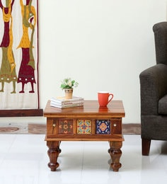 Superieur Siramika Solid Wood Coffee Table In Honey Oak Finish