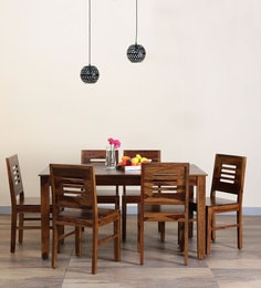 Valencia Six Seater Dining Set In Provincial Teak Finish