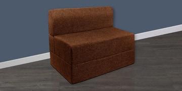 Single Sofa Cum Bed In Brown Colour