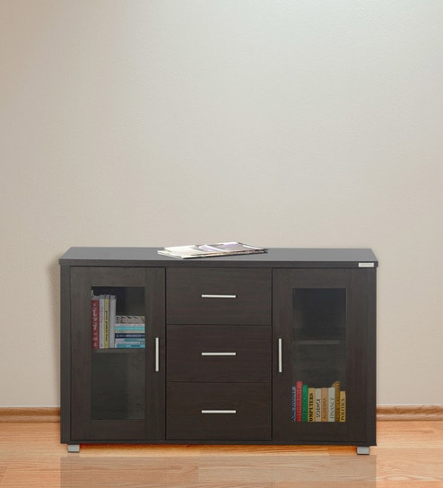 Buy Cabinet with Drawer in Walnut Finish by Godrej Interio Online ...