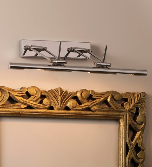 Silver Aluminium and Glass Picture Light by Jainsons Emporio
