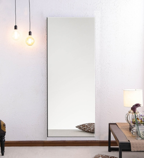 Decorative Full Length Mirror.Glass Full Length Mirror In Silver Color By Elegant Arts Frames