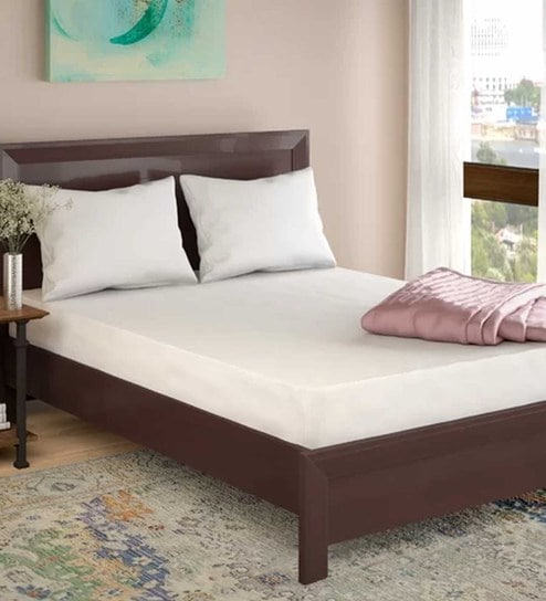 check out f4bcb ac25a Terry Cotton Single 78x36 Waterproof Mattress Protector by Wake-Fit