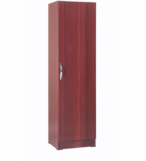Buy Single Door Wardrobe In Rosewood Colour By Pindia Online 1