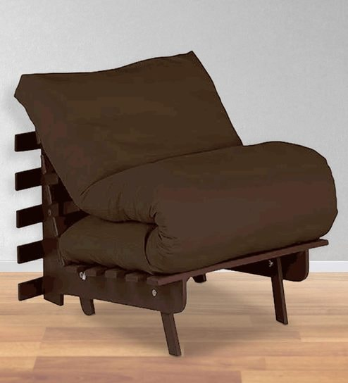 Single Futon With Mattress In Chocolate Colour By Auious Home