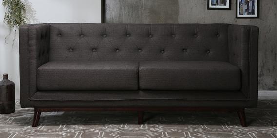 Sofa Design.Silvana 3 Seater Sofa In Brown Colour By Casacraft