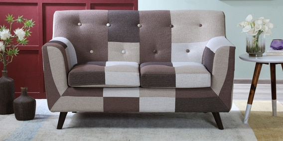 Tremendous Simon 2 Seater Sofa In Brown Multi Colour By Casacraft Camellatalisay Diy Chair Ideas Camellatalisaycom