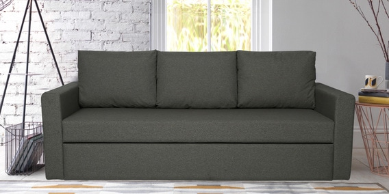 Buy Simplo Three Seater Sofa Cum Bed In Grey Color By Vittoria