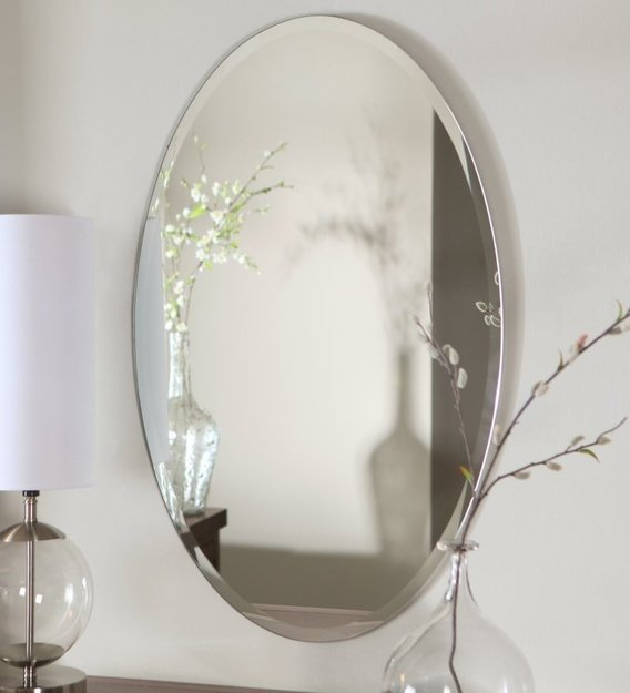 Buy Glass Oval Wall Mirror in Silver colour by Elegant Arts & Frames Online  - Wall Mirrors - Wall Accents - Home Decor - Pepperfry Product