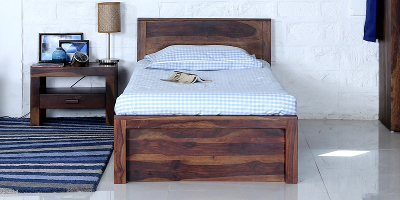 Acropolis Single Bed in Provincial Teak Finish by Woodsworth