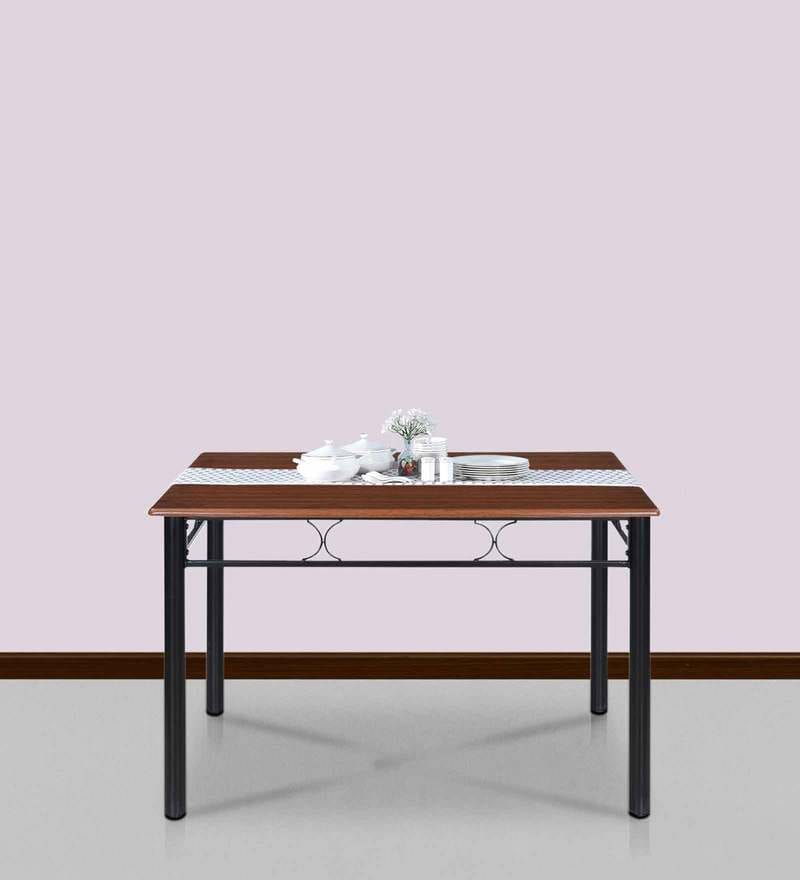 Sidney Four Seater Dining Table in Black Colour by @Home