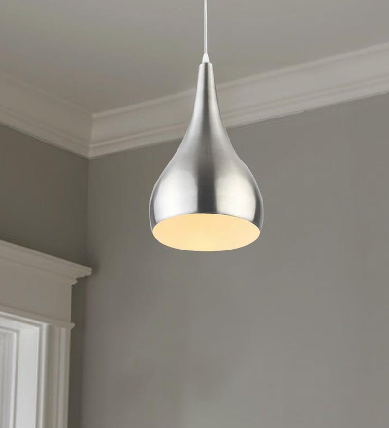 Buy Lighting Online: Buy Silver Aluminium Hanging Light By LEARC Designer