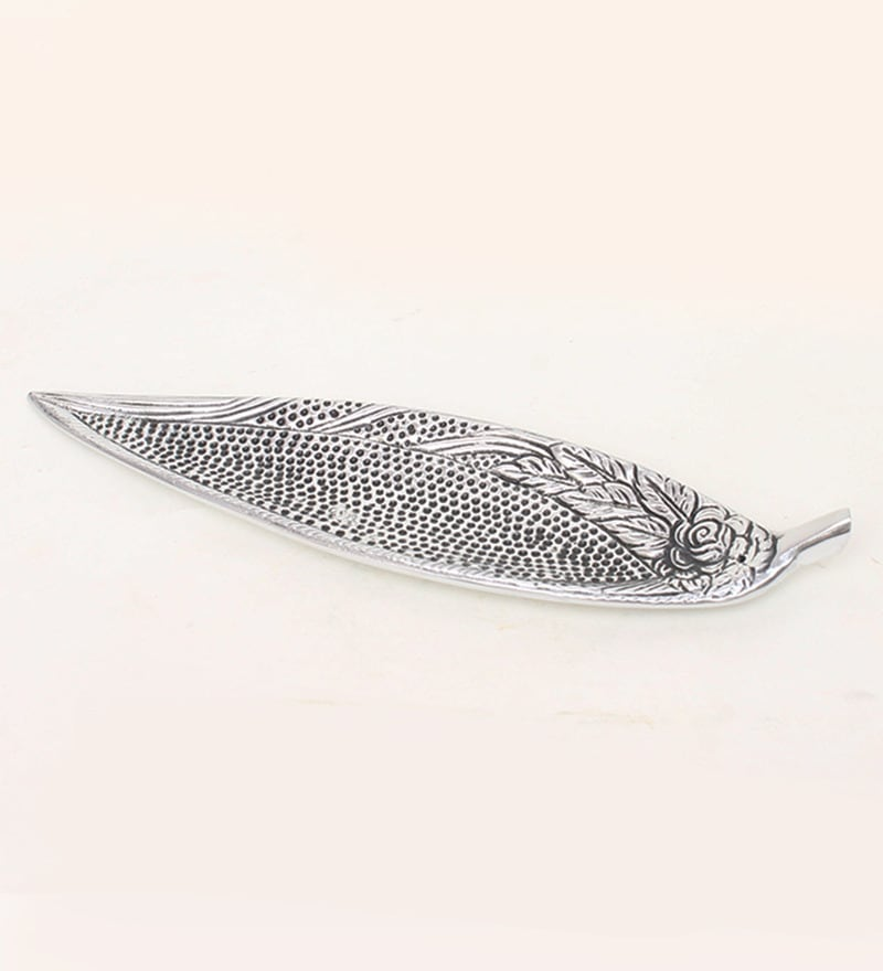 Silver Aluminium Incense Holder By Home Sparkle
