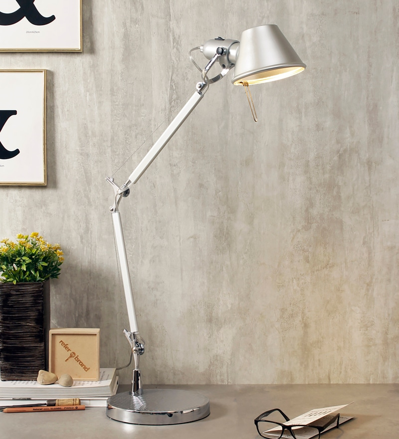 Silver Metal Desk Lamps by Jainsons Emporio